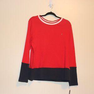 Nautica Red/Blue ladies shirt